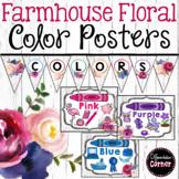 Color Posters- Farmhouse Classroom Decor