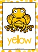 Color Posters:  Frog Theme