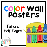 Color Posters - Full & Half Pages