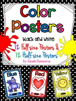 Color Posters (Full & Half Size Posters) {Black and White Theme}