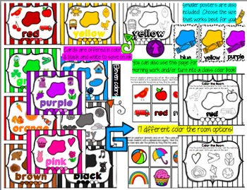 Color Posters Galore {With Color the Room Activities}