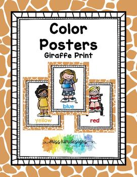 Color Posters: Giraffe Print