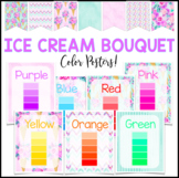 Color Posters - Ice Cream Tropical Floral Decor