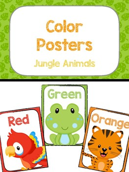 Color Posters - Jungle Animals