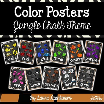 Color Posters Jungle Chalk Theme