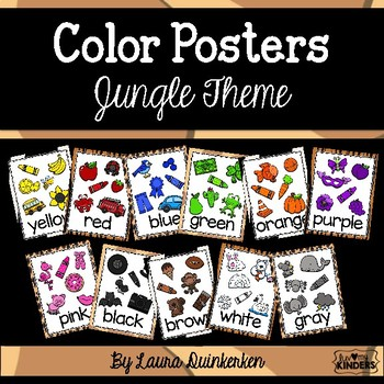 Color Posters Jungle Theme