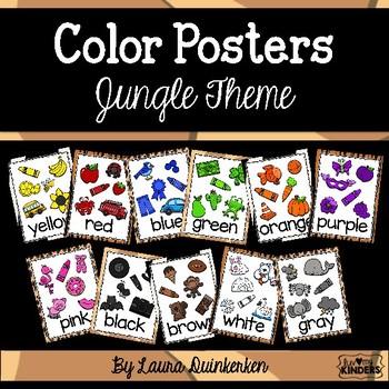 Color Posters Jungle Theme