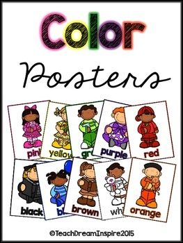 Color Posters {Kids on White Background}