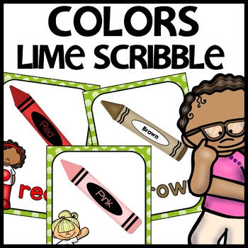 Color Posters MIX AND MATCH (LIME Polka Dot Scribble)