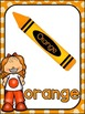 Color Posters MIX AND MATCH (ORANGE Polka Dot Scribble)