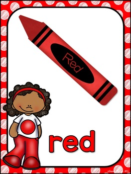 Color Posters MIX AND MATCH (RED Polka Dot Scribble)