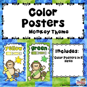 Color Posters Monkey Theme