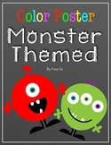 Color Posters - Monster Theme (English)