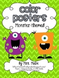 Color Posters - Monster Themed