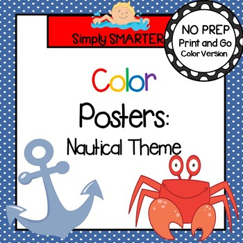 Color Posters:  Nautical Themed
