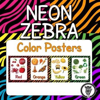 Color Posters  - Neon Zebra Print