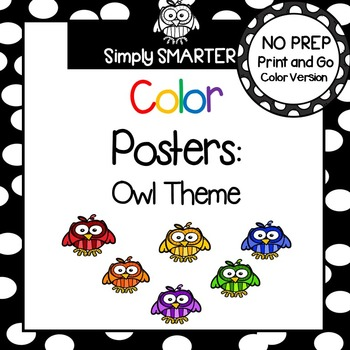 Color Posters:  Owl Theme