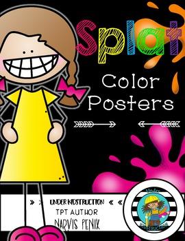 Color Posters-Paint Splat Theme