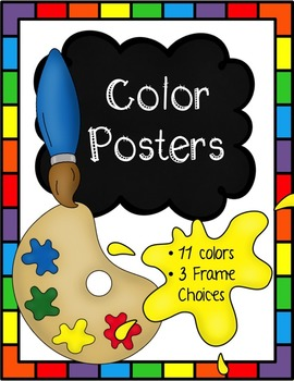 Color Posters (Paint Themed)