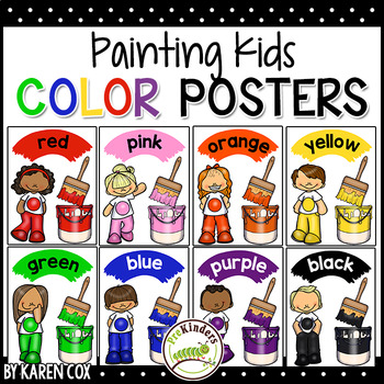 Color Posters: Painting Kids