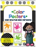 Color Posters - Polka Dot Background