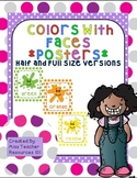 Color Posters - Polka Dot Background - With Faces