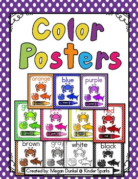 Color Posters- Polka Dot Theme