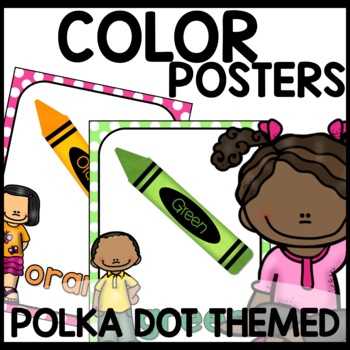 Color Posters (Polka Dot Themed Turquoise, lime green, pink, purple)