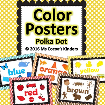 Color Posters (Polka Dots)