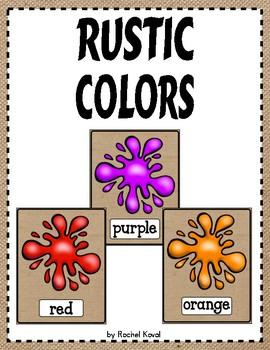Color Posters -Rustic Classroom Decor