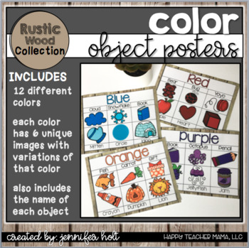 Color Posters {Rustic Wood}