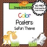 Color Posters:  Safari Animal Theme