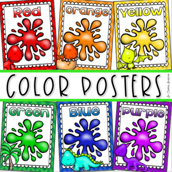 Color Posters Signs Bulletin Board Dinosaur Theme