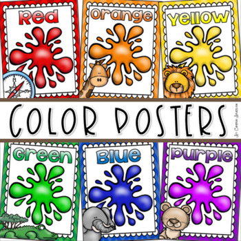 Color Posters Signs Bulletin Board Jungle Safari Theme