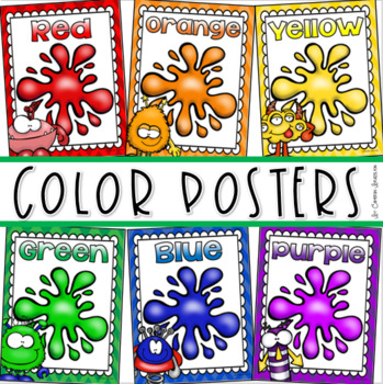 Color Posters Signs Bulletin Board Monster Theme
