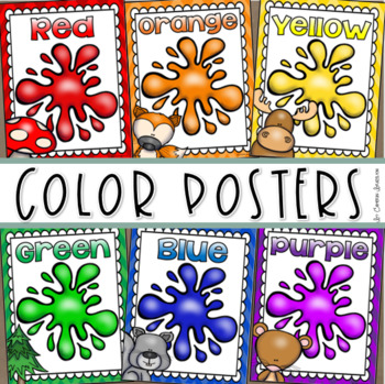 Color Posters Signs Bulletin Board Woodland Animals Forest Theme