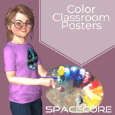 Space Themed Color Posters Water Color