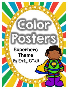 Color Posters (Superhero Theme)