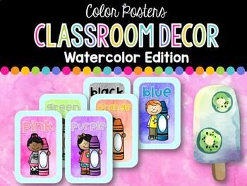 Color Posters: Watercolor Classroom Decor