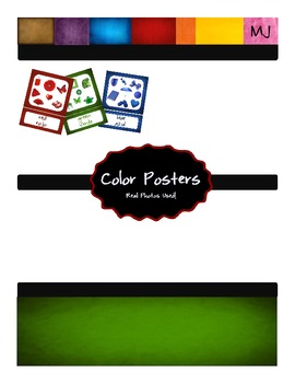 Color Posters With Real Photos