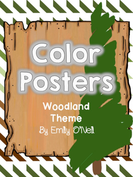 Color Posters (Woodland Theme)