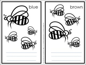Color Posters, Word Wall Words, and Booklet - Bee Theme