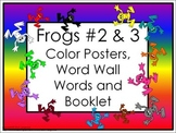 Color Posters, Word Wall Words, and Booklet - Frogs Theme (#2 & #3)