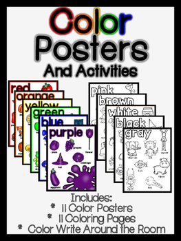 Color Posters and Activities
