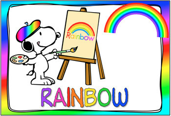 Color Posters and Chart - Snoopy Painting