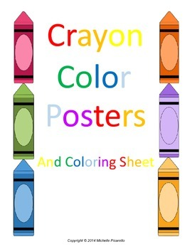 Color Posters and Coloring Sheet