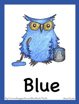 Color Posters and Flash Card Pack - Owl Theme