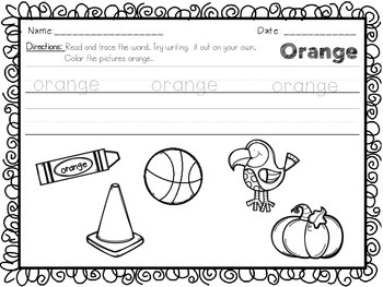 Color Posters and Worksheets