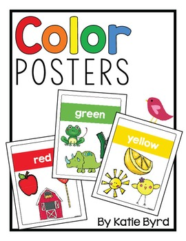 Color Posters for Bulletin Boards and Classroom Decor