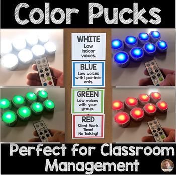 Color Posters for Light Pucks- Perfect for Classroom Management